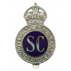 Lincolnshire Special Constabulary Enamelled Cap Badge - King's Crown