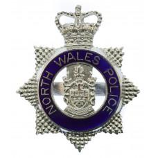 North Wales Police Senior Officer's Enamelled Cap Badge - Queen's Crown