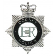 Dorset Police Senior Officer's Enamelled Cap Badge - Queen's Crown