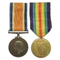 WW1 British War & Victory Medal Pair - Lieut. H.N. Stevens, 9th East Yorkshire Regt, Northumberland Fusiliers, Royal Air Force and 3rd King's African Rifles
