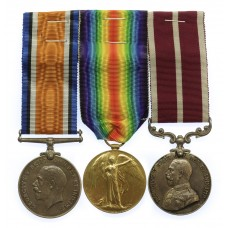 WW1 Meritorious Service Medal Group of Three - Gnr. F.W. Sloan, R