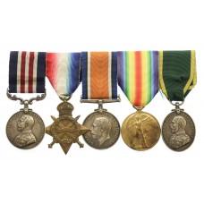 WW1 Military Medal, 1914-15 Star, British War Medal, Victory Meda