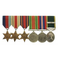 WW2 and Territorial Efficiency Medal Group of Six - Gnr. J.R.G. Wilson, 60th Field Regt, Royal Artillery, 60 Column, Special Forces (Chindits)