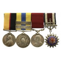 Queen's Sudan, Khedives Sudan (2 Clasps - The Atbara, Khartoum), Ed VII LS&GC Medal and Corps of Commissionaires Medal Group of Four - C.Sjt. G. Jepson, 1st Bn. Lincolnshire Regiment