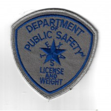 United States Department of Public Safety License and Weight Texas Cloth Patch