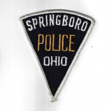 United States Springboro Police Ohio Cloth Patch