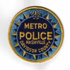 United States Metro Police Nashville Davidson County Cloth Patch