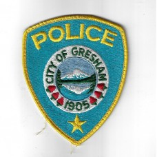United States City of Gresham (1905) Police Cloth Patch