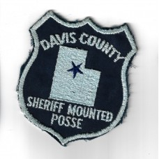 United States Davis County Sheriff Mounted Posse Cloth Patch
