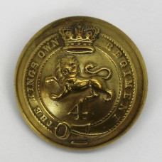 Victorian 4th (The King's Own) Regiment of Foot Button (Large)