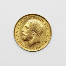 1914 George V 22ct Gold Half Sovereign Coin
