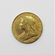 1899 Victoria 22ct Gold Full Sovereign Coin