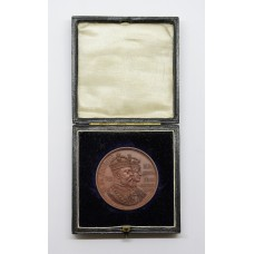 1902 King Edward VII & Queen Alexandra Coronation Medal In Fitted Box