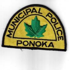 Canadian Ponoka Municipal Police Cloth Patch
