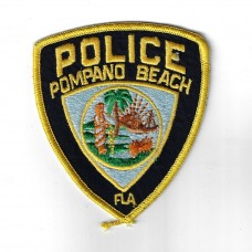 United States Pompano Beach Police Cloth Patch
