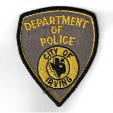 United States City of Irving Department of Police Cloth Patch
