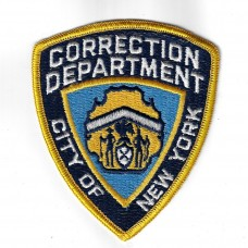 Unites States City of New York Correction Department Cloth Patch