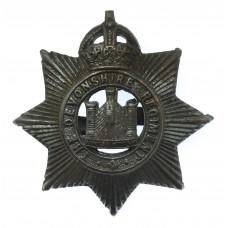 Devonshire Regiment Officer's Service Dress Cap Badge - King's Cr