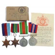 WW2 Japanese Prisoner of War Casualty Medal Group of Four - Gnr.