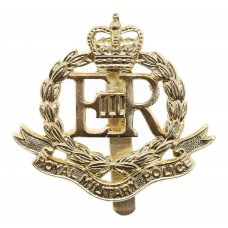 EIIR Royal Military Police (R.M.P.) Anodised (Staybrite) Cap Badge - Queen's Crown
