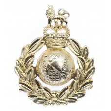 Royal Marines Anodised (Staybrite) Cap Badge - Queen's Crown