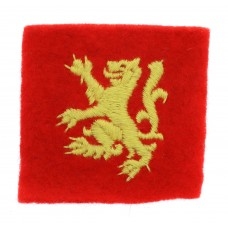 Scottish Command Troops Cloth Formation Sign
