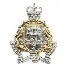 Gibralter Regiment Anodised (Staybrite) Cap Badge