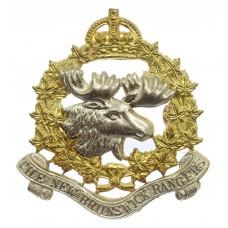 Canadian The New Brunswick Rangers Cap Badge - King's Crown