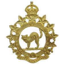 Canadian Ontario Regiment Cap Badge - King's Crown