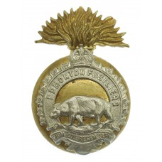 Canadian Edmonton Fusiliers Cap Badge - King's Crown