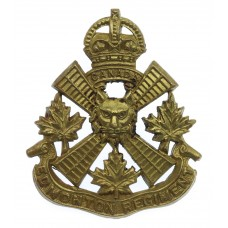 Canadian Edmonton Regiment Cap Badge - King's Crown