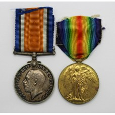 WW1 British War & Victory Medal Pair - A.Sjt. P.P. Hope, Roya