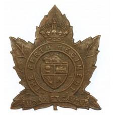 Canadian The Perth Regiment Cap Badge - King's Crown