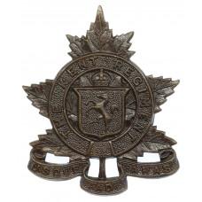 Canadian The Kent Regiment Cap Badge - King's Crown