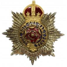 Hampshire Regiment Officer's Silver Gilt & Enamel Cap Badge - King's Crown