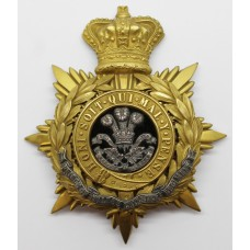 Victorian Prince of Wales's Leinster Regiment (Royal Canadians) Officer's Helmet Plate