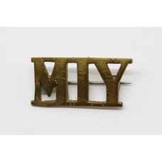 Montgomeryshire Imperial Yeomanry (M.I.Y.) Shoulder Title