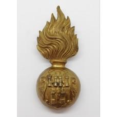 Royal Dublin Fusiliers Fur Cap Grenade Badge