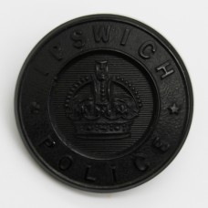 Ipswich Borough Police Black Button - King's Crown (Extra Large)