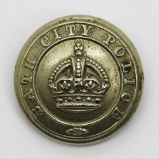 Bath City Police Button - King's Crown (Large)