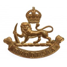 Southern Rhodesia Staff Corps Cap Badge - King's Crown