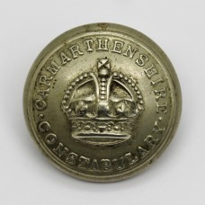 Carmarthanshire Constabulary Button - King's Crown (Large)