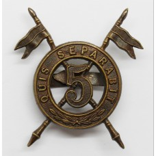 5th (Royal Irish) Lancers Officer's Service Dress Cap Badge