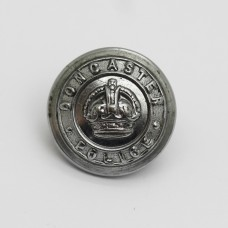 Doncaster Borough Police Chrome Button - King's Crown (Small)