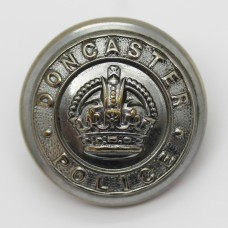 Doncaster Borough Police Chrome Button - King's Crown (Large)