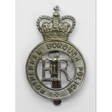 Rotherham Borough Police Cap Badge - Queen's Crown