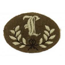 British Army Gun Layer (L) Cloth Proficiency Arm Badge
