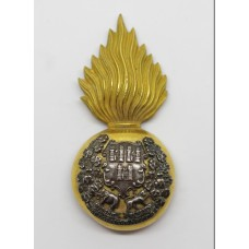 Royal Dublin Fusiliers Officer's Silver & Gilt Glengarry Badge