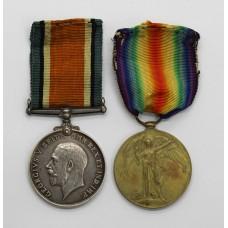 WW1 British War & Victory Medal Pair - Bmbr. J.W. Hotchkin, R