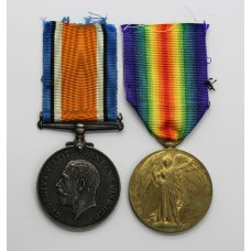 WW1 British War & Victory Medal Pair - Pte. G.H. Grunwell, Ar